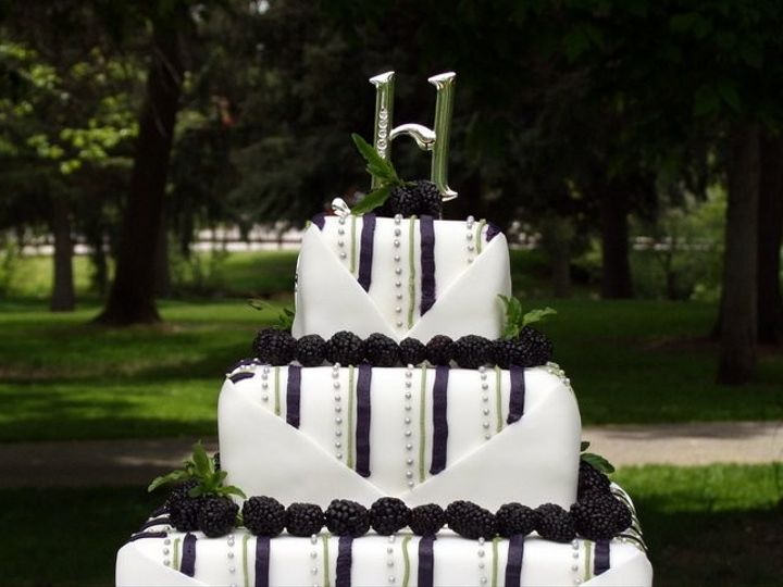 Tmx 1451261259051 Black Berries Wells wedding cake