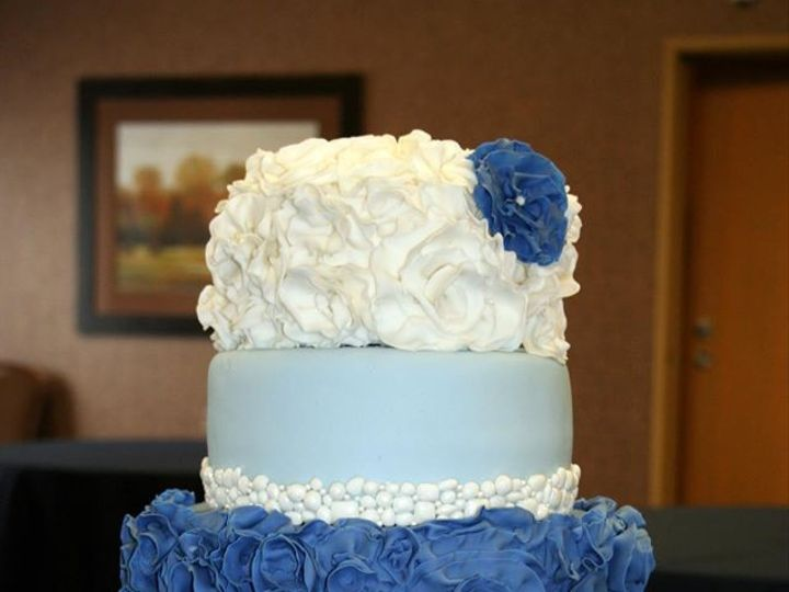 Tmx 1451261279184 Blue Ruffles Wells wedding cake