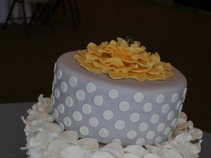 Tmx 1451261372994 Dots Chevron And Ruffles Wells wedding cake
