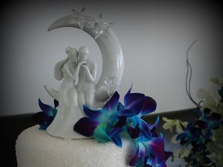 Tmx 1451261469034 Orchids And Shimmer   Copy   Copy Wells wedding cake