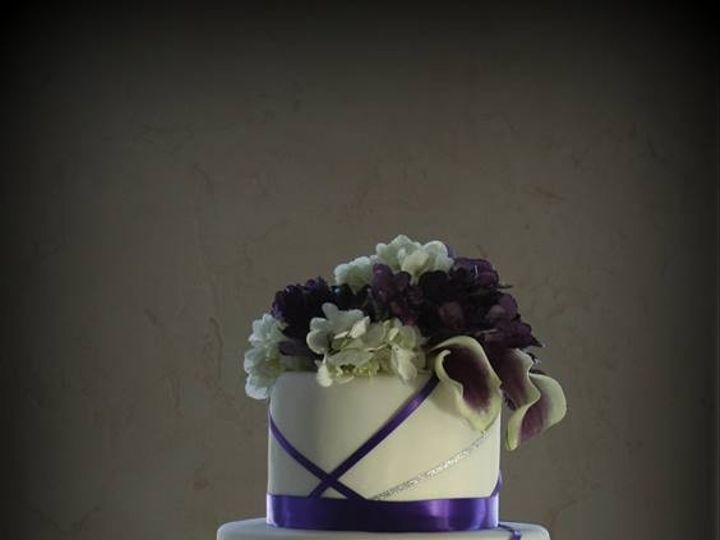 Tmx 1451261497977 Purple Ribbons   Copy   Copy Wells wedding cake