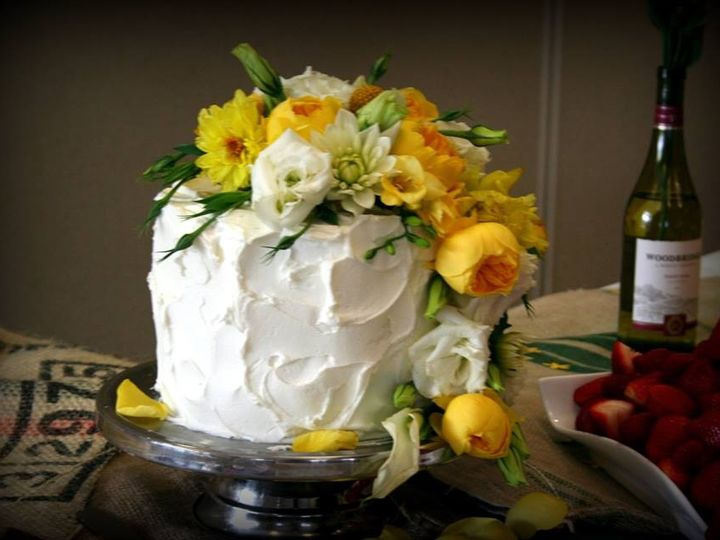 Tmx 1451261727014 Yellow Flowers 1 Tier   Copy   Copy Wells wedding cake
