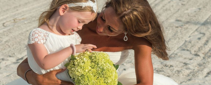 Bride with a kid