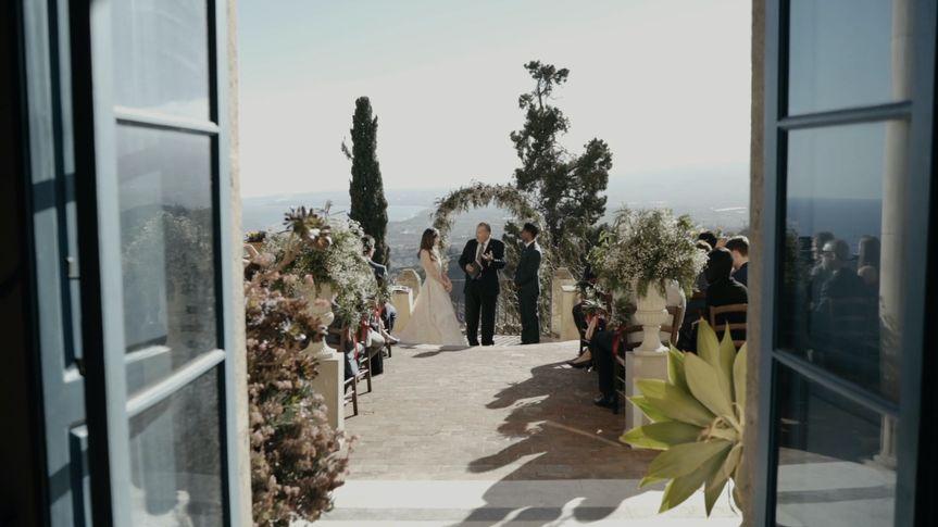 Wedding ceremony view