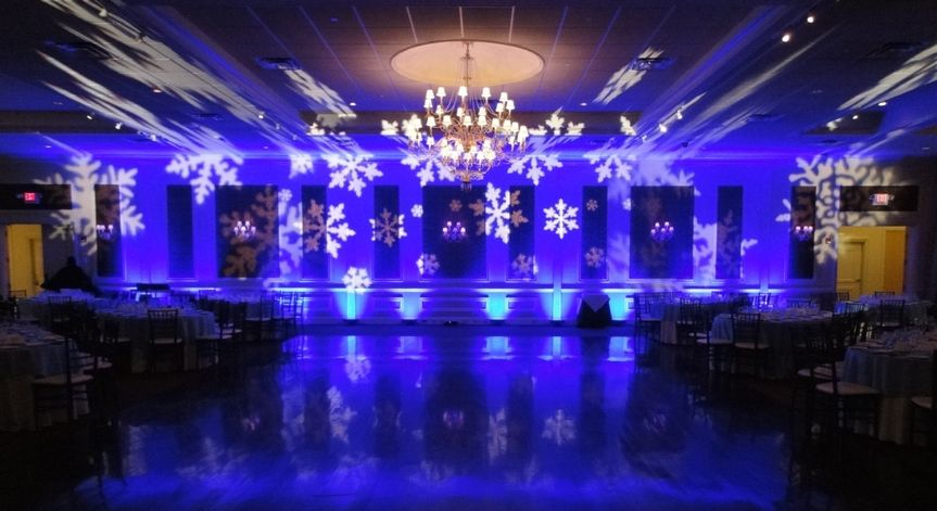 Classic blue party lights