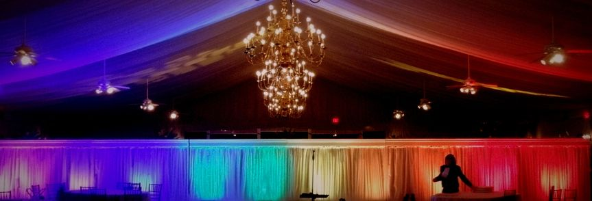 Rainbow colored lights
