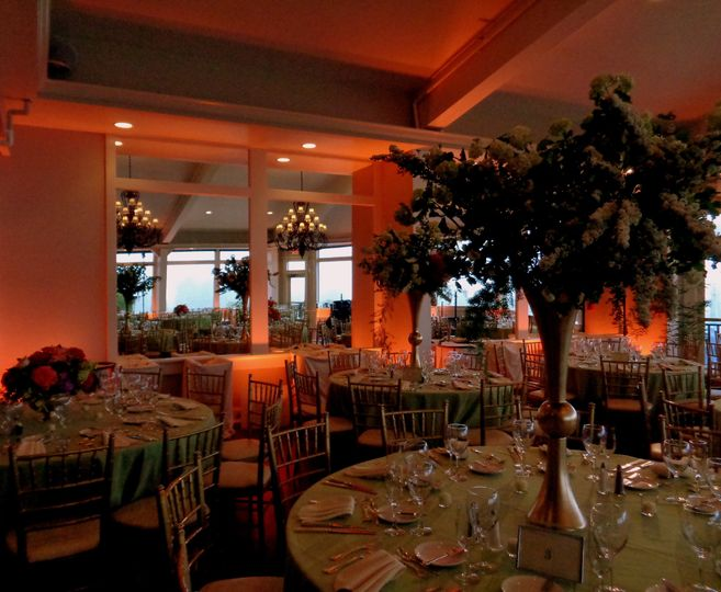 Tall leafy centerpieces
