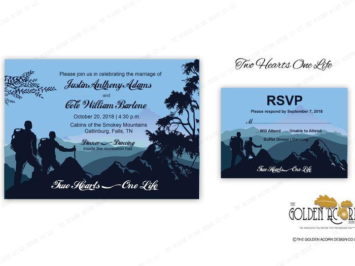Tmx Online Gallery 2 Hearts 1 Life 51 777866 158576249136909 Yantic, CT wedding invitation
