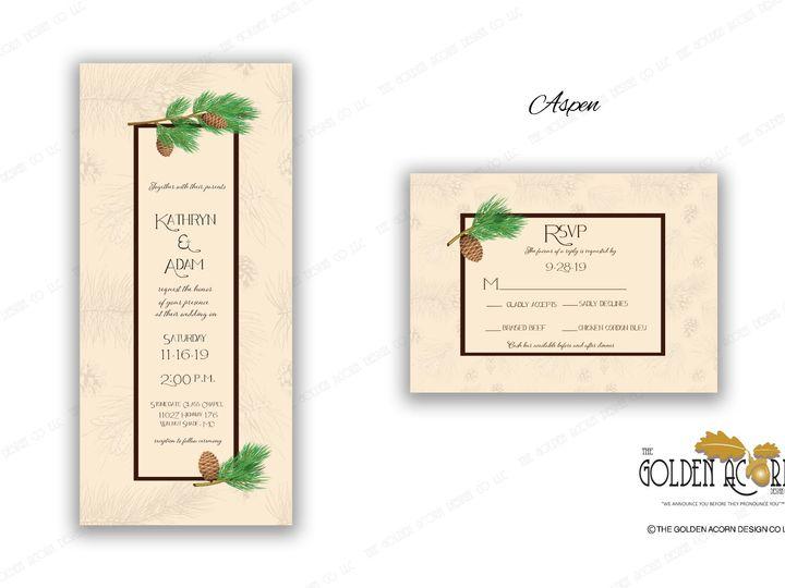 Tmx Online Gallery Aspen 51 777866 158576249133730 Yantic, CT wedding invitation