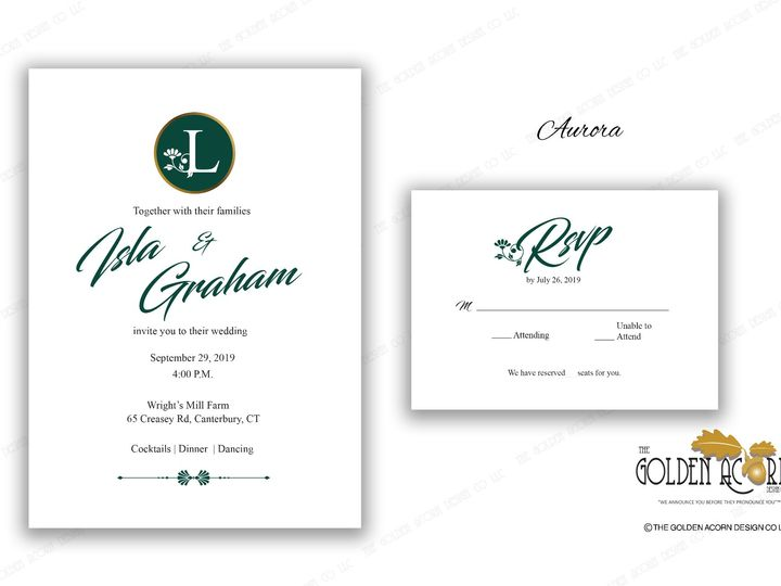 Tmx Online Gallery Aurora 51 777866 158576249131253 Yantic, CT wedding invitation