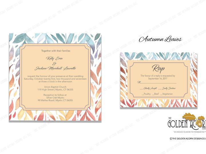 Tmx Online Gallery Autumn Leaves 51 777866 158576249374251 Yantic, CT wedding invitation