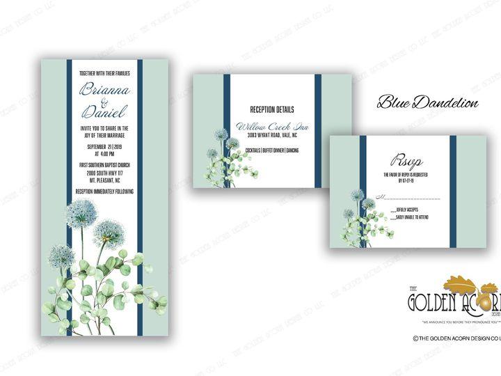 Tmx Online Gallery Blue Dandelion 51 777866 158576249357140 Yantic, CT wedding invitation
