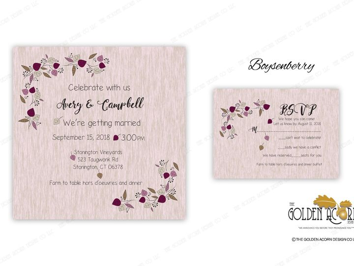 Tmx Online Gallery Boysenberry 51 777866 158576249575719 Yantic, CT wedding invitation