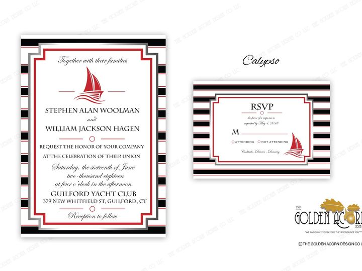Tmx Online Gallery Calypso 51 777866 158576249330285 Yantic, CT wedding invitation
