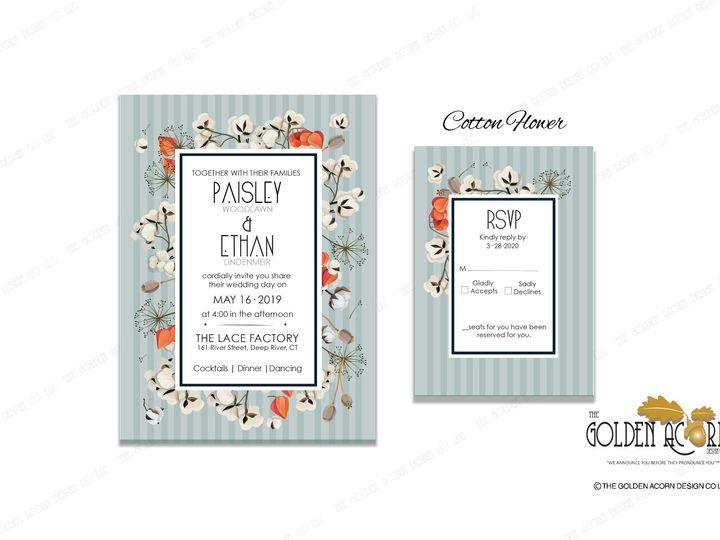 Tmx Online Gallery Cotton Flower 51 777866 158576249519098 Yantic, CT wedding invitation