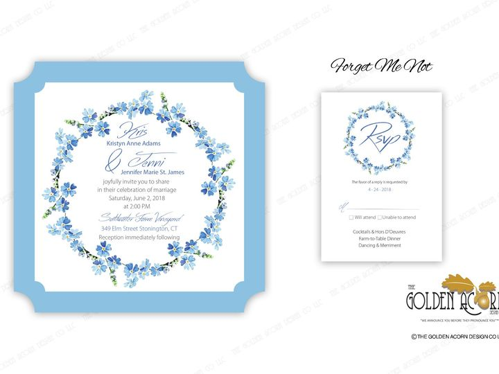 Tmx Online Gallery Forget Me Not 51 777866 158576249792676 Yantic, CT wedding invitation
