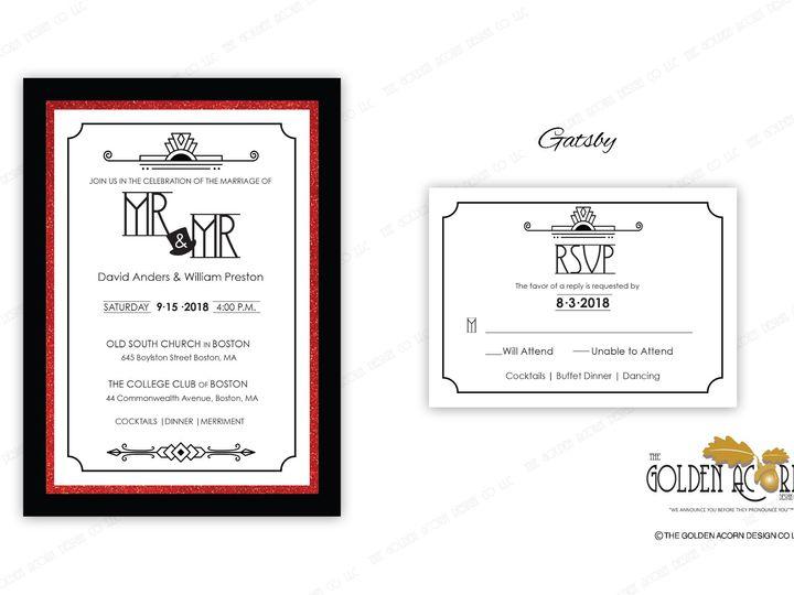 Tmx Online Gallery Gatsby 51 777866 158576249588452 Yantic, CT wedding invitation