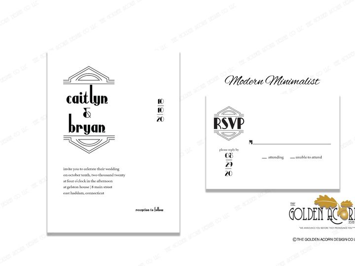 Tmx Online Gallery Modern Minimalist 51 777866 158576249793605 Yantic, CT wedding invitation