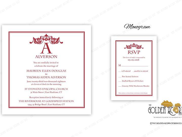 Tmx Online Gallery Monogram 51 777866 158576249959557 Yantic, CT wedding invitation