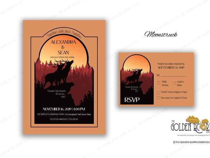 Tmx Online Gallery Moonstruck 51 777866 158576249734734 Yantic, CT wedding invitation