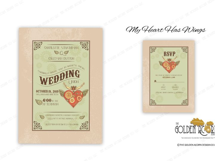 Tmx Online Gallery My Heart Has Wings 51 777866 158576249744795 Yantic, CT wedding invitation