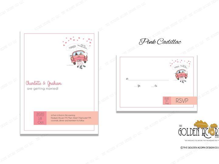 Tmx Online Gallery Pink Cadillac 51 777866 158576249896474 Yantic, CT wedding invitation