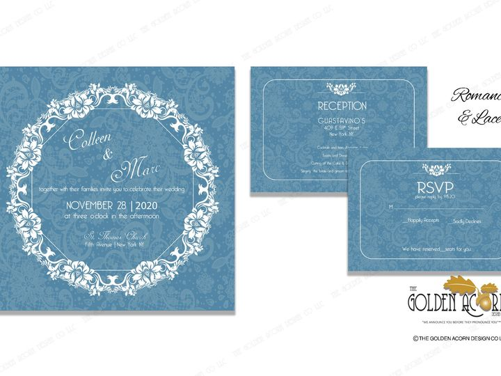 Tmx Online Gallery Romance And Lace 51 777866 158576250132644 Yantic, CT wedding invitation