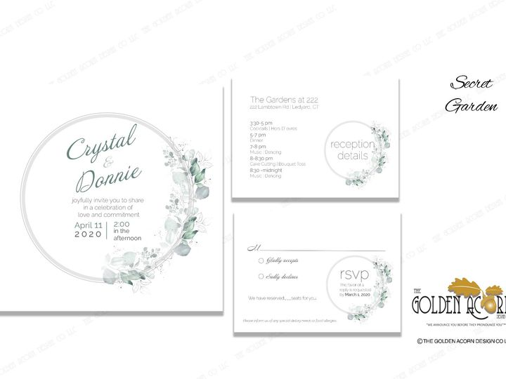 Tmx Online Gallery Secret Garden 51 777866 158576249933483 Yantic, CT wedding invitation