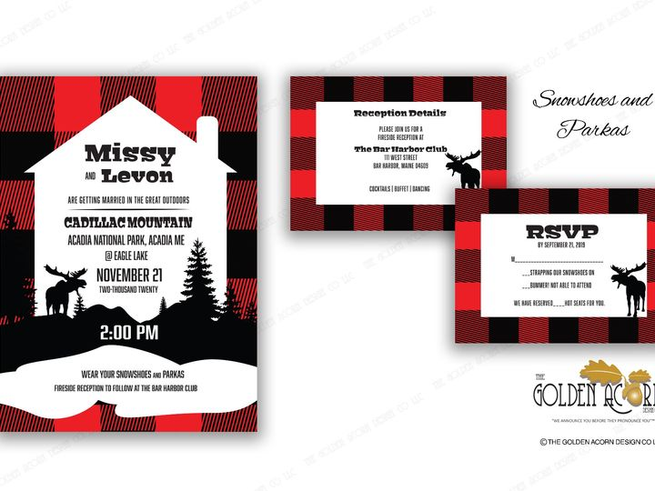 Tmx Online Gallery Snowshoes N Parkas 51 777866 158576250143492 Yantic, CT wedding invitation