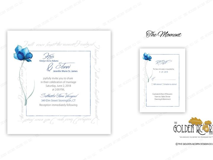 Tmx Online Gallery The Moment 51 777866 158576250210162 Yantic, CT wedding invitation