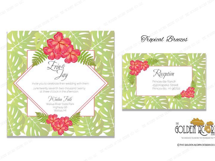 Tmx Online Gallery Tropical Breezes 51 777866 158576250279647 Yantic, CT wedding invitation