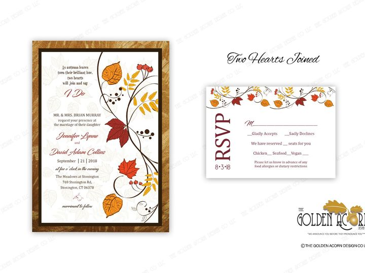 Tmx Online Gallery Two Hearts Joined 51 777866 158576250366588 Yantic, CT wedding invitation
