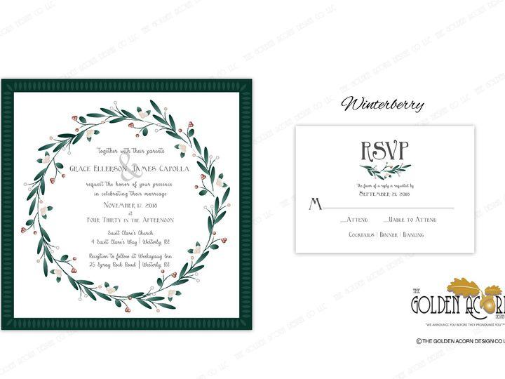Tmx Online Gallery Winterberry 51 777866 158576250447618 Yantic, CT wedding invitation