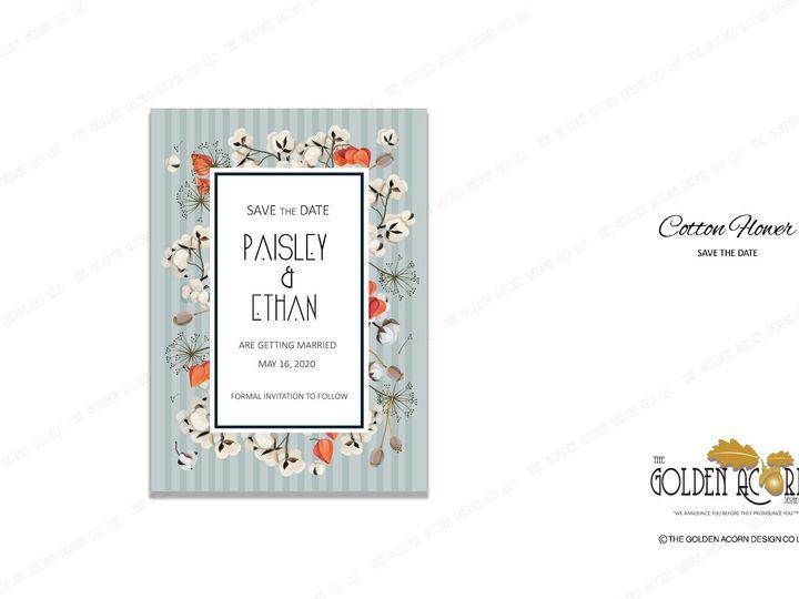 Tmx Std Onliine Gallery Cotton Flower 51 777866 158576298077492 Yantic, CT wedding invitation