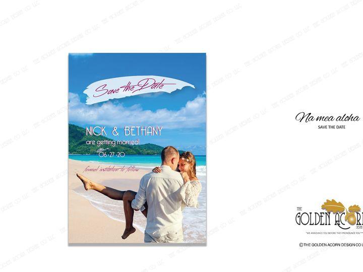 Tmx Std Onliine Gallery Na Mea Aloha 51 777866 158576316752812 Yantic, CT wedding invitation