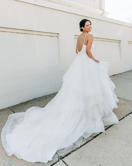 Stunning gown trail
