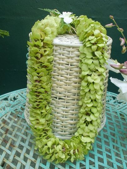 Triple Green Orchid Lei