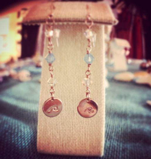 Boho chic wedding earrings