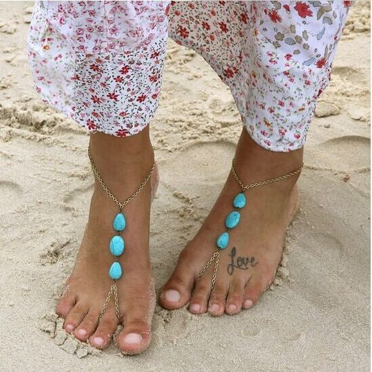 Barefoot beach wedding style