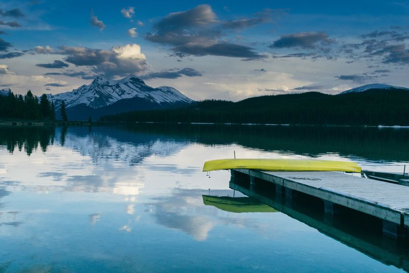 life of pix free stock photos canoe mountain lake