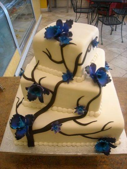Blue Sugar Orchid Cake