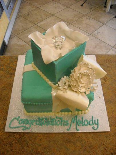 Tiffany Style Box Cake