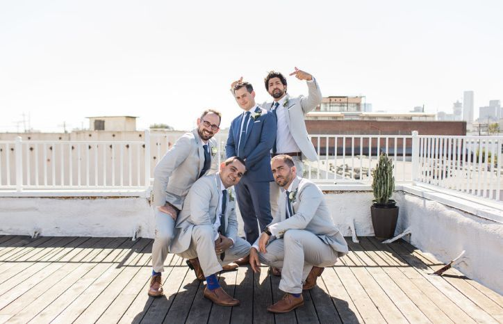 The groom with groomsmen