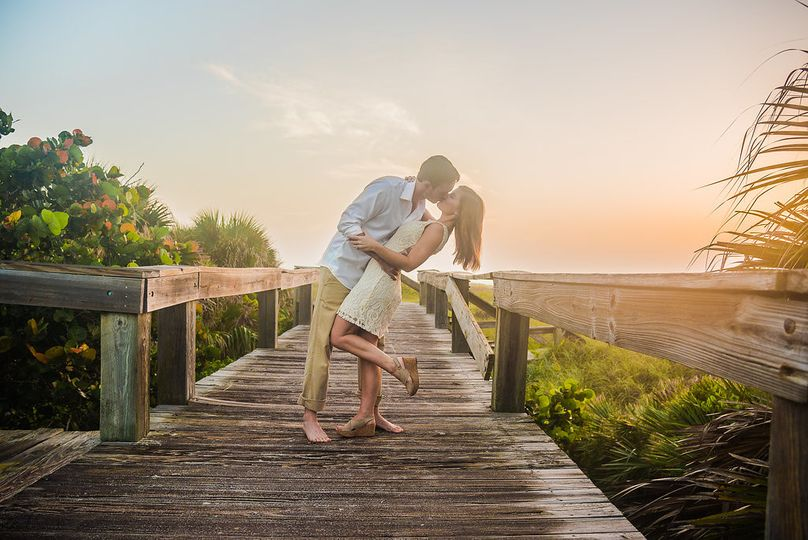 memphis cocoa beach engagement sunrise couple 1 6