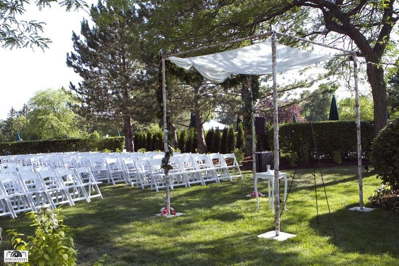 Outdoor ceremony area