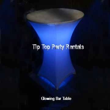 Lighted Cocktail Table - steady or changing colors