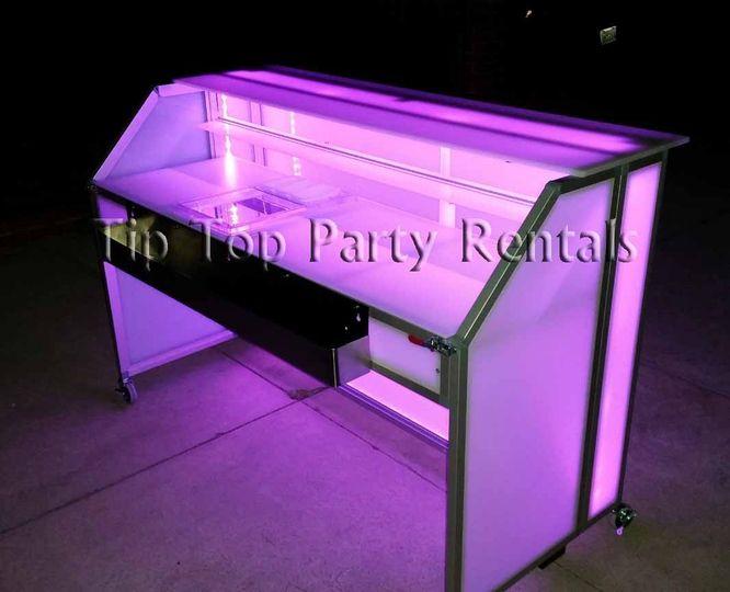 6ft illuminated acrylic bar