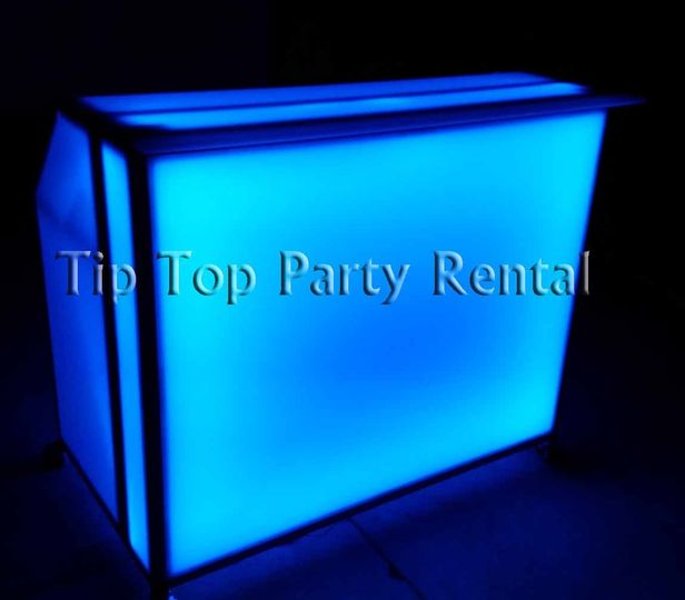 4ft illuminated acrylic bar front on over
