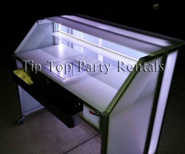 4ft illuminated acrylic bar back white