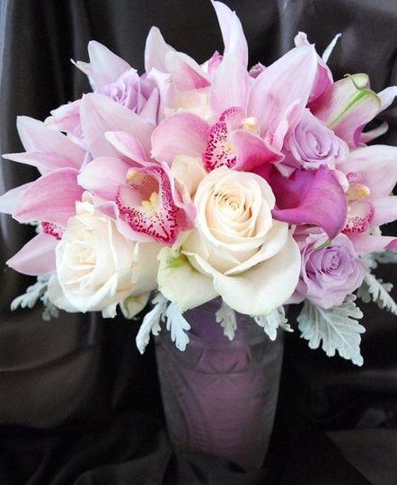 Cymbidium orchids in bouquet